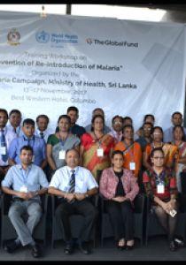 Training Workshop on Malaria Elimination and POR